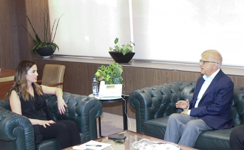 Minister Manal Abdel Samad meets Russian Ambassador
