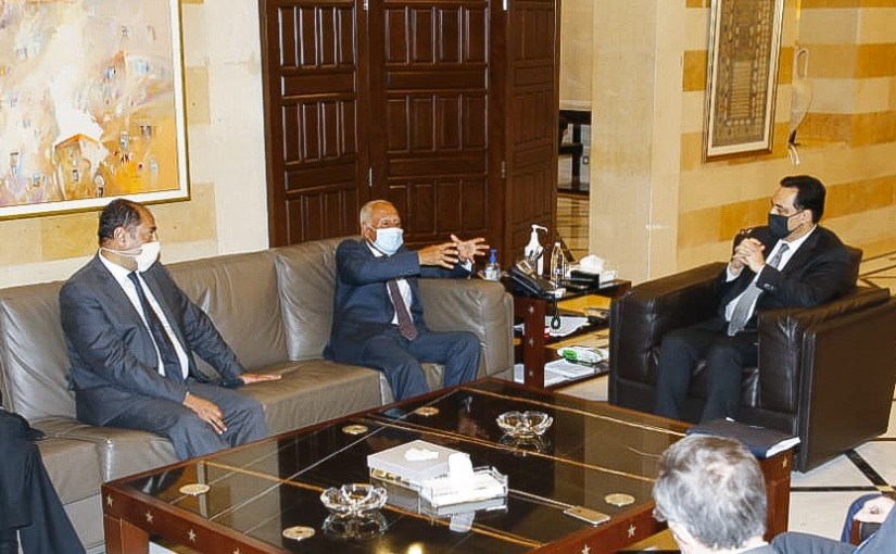 Pr Minister Hassan Diab meets Mr Mouhamad Abouel Gheit