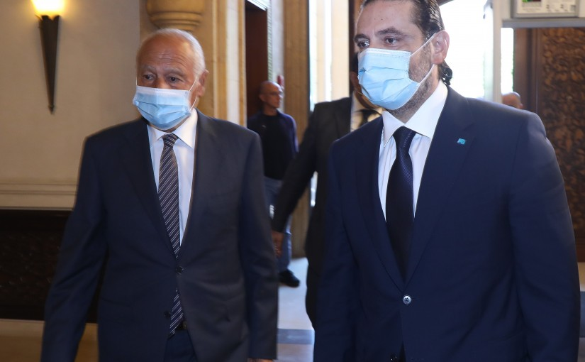 Former Pr Minister Saad Hariri meets Mr Mouhamad abou Gheit