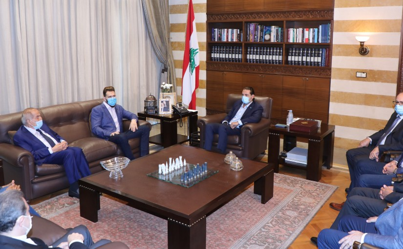 Former Pr Minister Saad Hariri meets a Delegation from Democratic Bloc