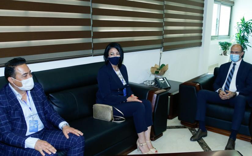 Minister Hassan Hamad meets a Belgium Delegation