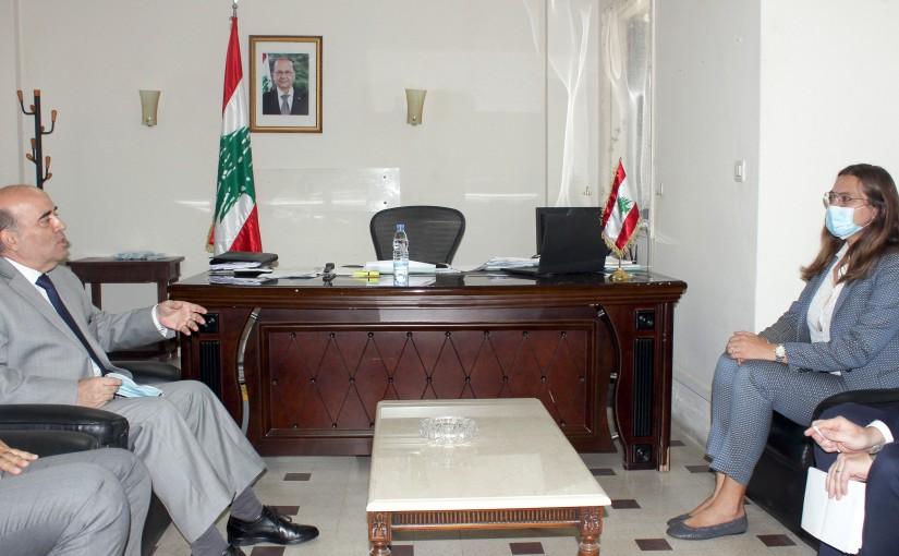 Minister Charbel Wehbeh meets Denmark Ambassador