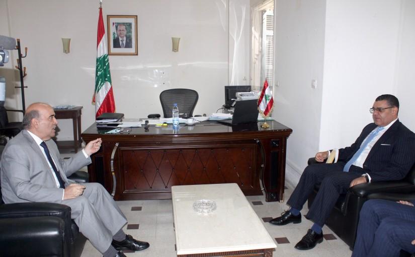 Minister Charbel Wehbeh meets Egyptian Ambassador
