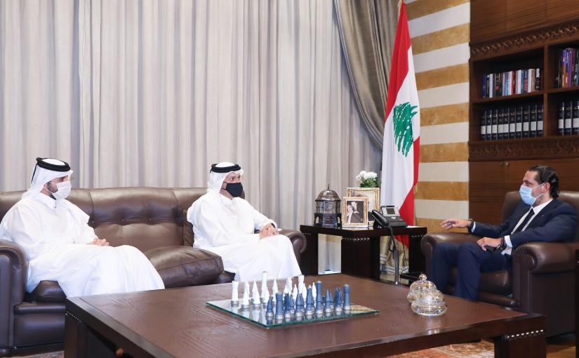 Former Pr Minister Saad Hariri meets Qatar Minister of Foreign Affairs