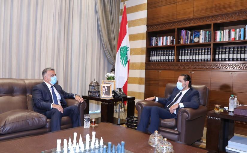 Former Pr Minister Saad Hariri meets General Abass Ibrahim