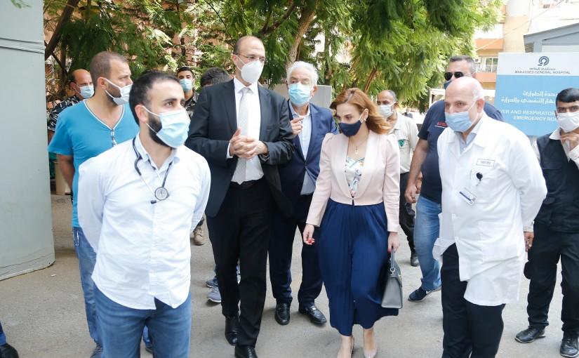 Minister Hassan Hamad Visits Al Makassed Hospital