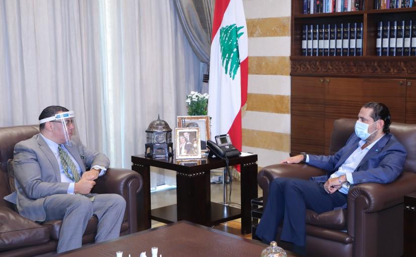 Former Pr Minister Saad Hariri meets Egyptian Ambassador