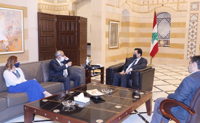 Pr Minister Hassan Diab meets a Delegation from Tashnak Party