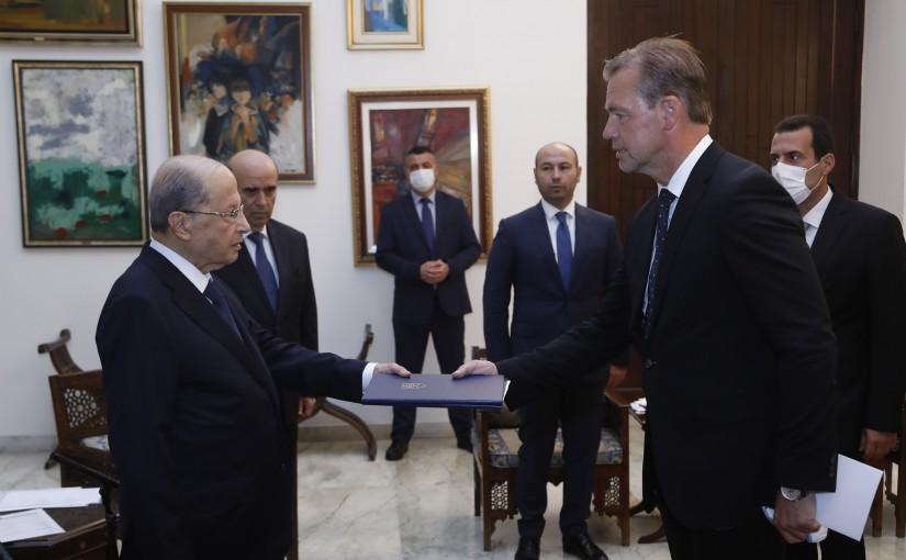 President Michel Aoun Meets Slovak Republic Ambassador