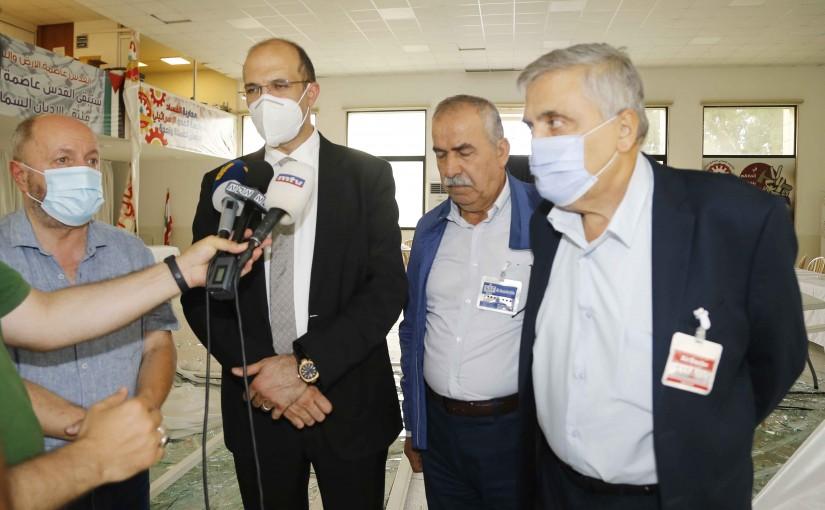 Minister Hassan Hamad Visits Labor Union Federation