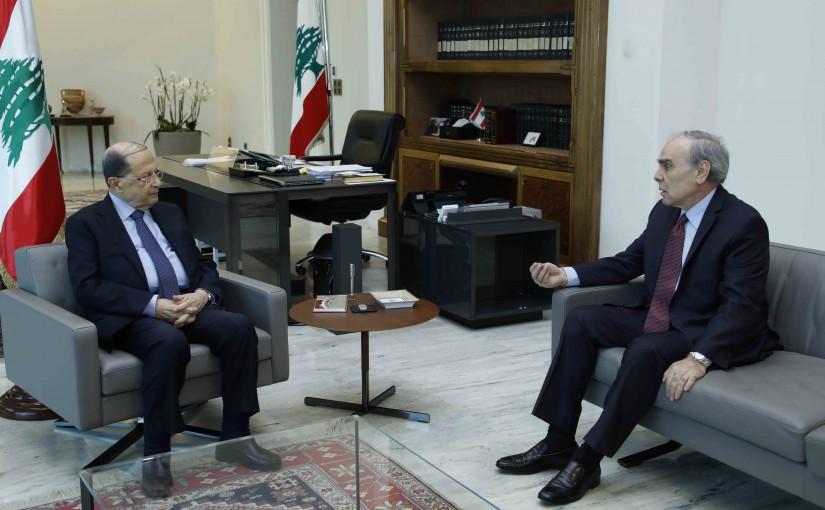 President Michel Aoun meets MP Emile Rahme.