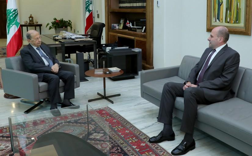 President Michel Aoun meets MP Salim Aoun.