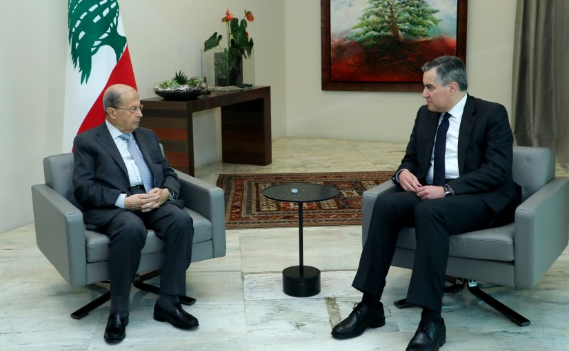 President Michel Aoun meets Designated Prime Minister Mustapha Adib