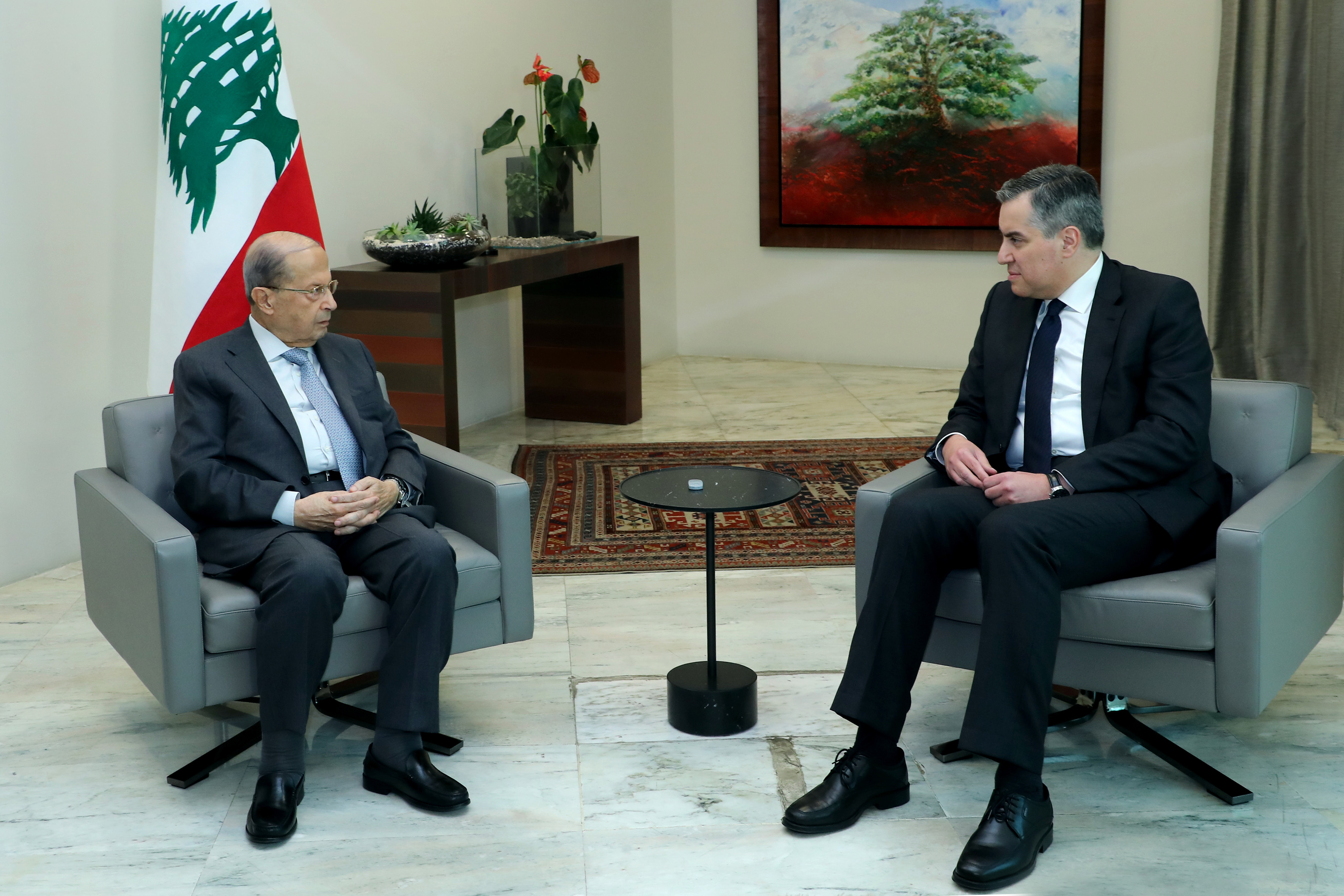 1599571570615_President Michel Aoun meets Designated Prime Minister Mustapha Adib