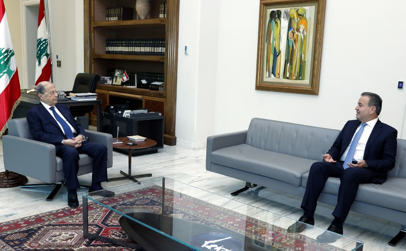 President Michel Aoun meets MP Assad Dergham.
