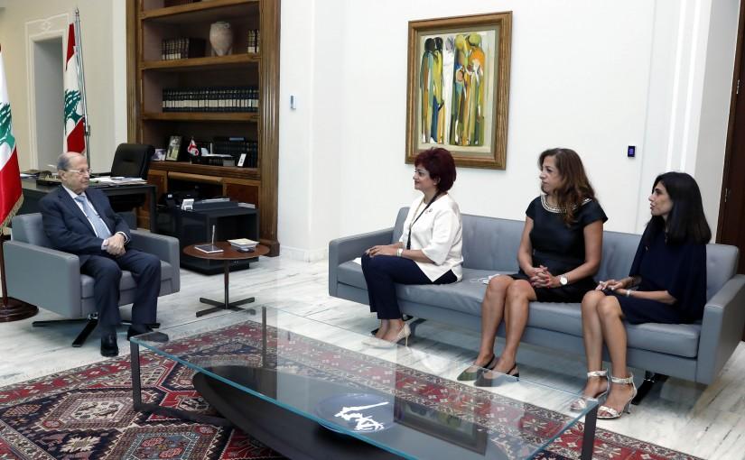 President Michel Aoun meets Dr. Myrna Abi Abdallah Doumit.