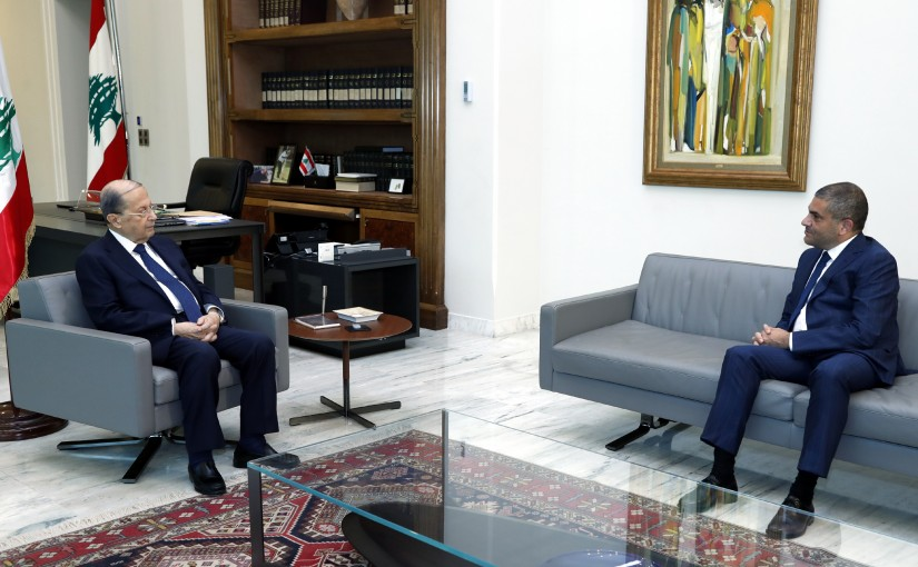 President Michel Aoun meets Mr. Fares Fattouhi President of the promising Lebanese party.