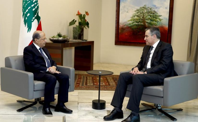 President Michel Aoun meets Prime Minister-designate Mustapha Adib