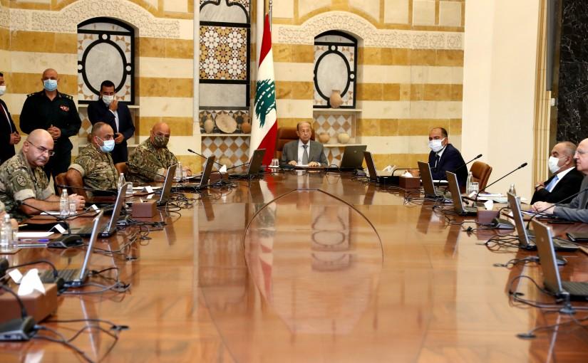 President Michel Aoun meets Head of Army Commander General Joseph Aoun, with a commander's delegation.