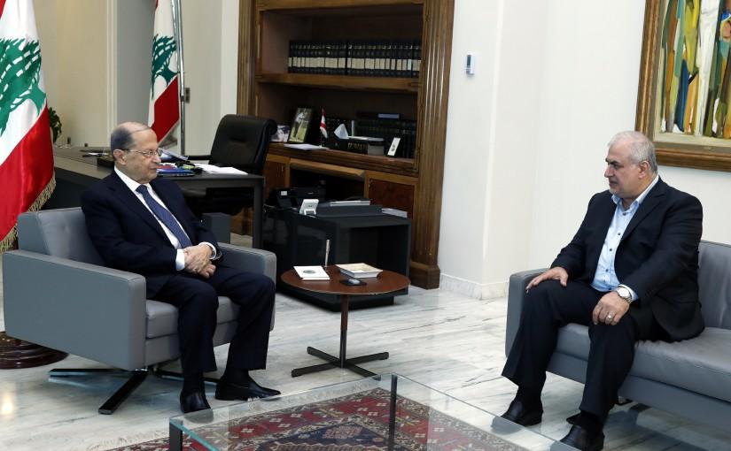 President Michel Aoun meets MP Mouhammad Raad.