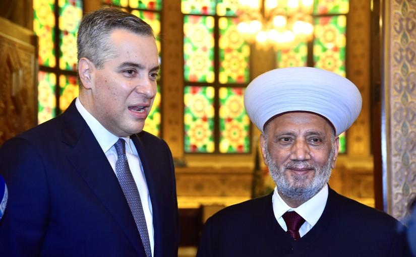 Pr Minister Moustapha Adib meets Mufti Abdel Latif Derian