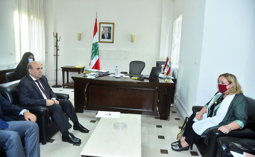 Minister Charbel Wehbeh meets a Italian Delegation