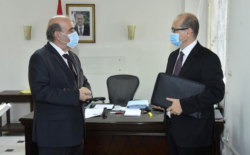 Minister Charbel Wehbeh meets Austria Ambassador