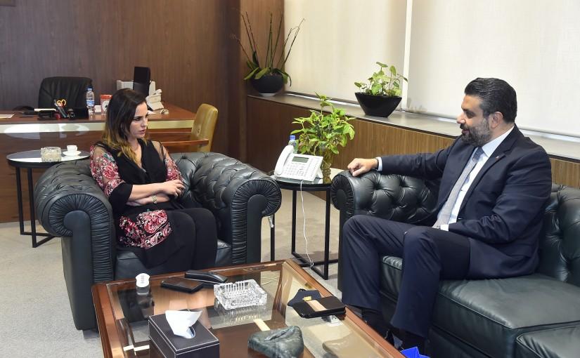 Minister Manal Abdel Samad meets Albanian Ambassador
