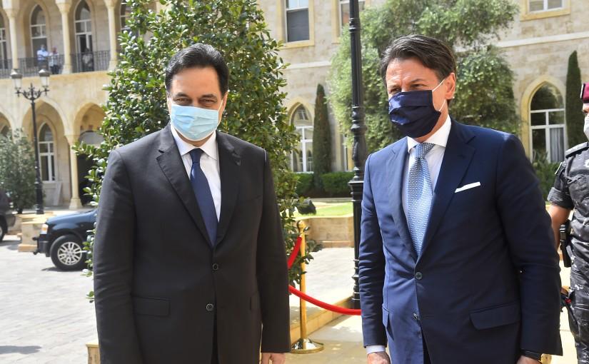 Pr Minister Hassan Diab meets Italian Pr Minister