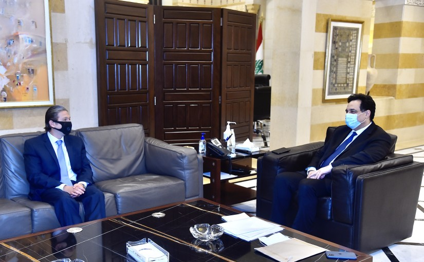 Pr Minister Hassan Diab meets MP Faycal Karme