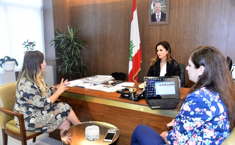 Minister Manal Abdel Samad meets Mrs Lama Alemeh