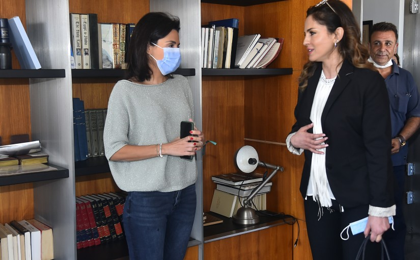Minister Manal Abdel Samad Visits Annahar Newspaper