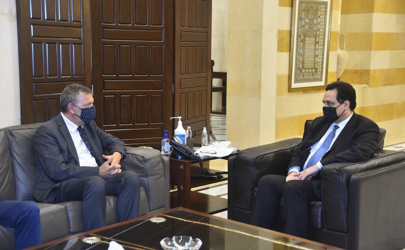 Pr Minister Hassan Diab meets Mr Philip Lazarini