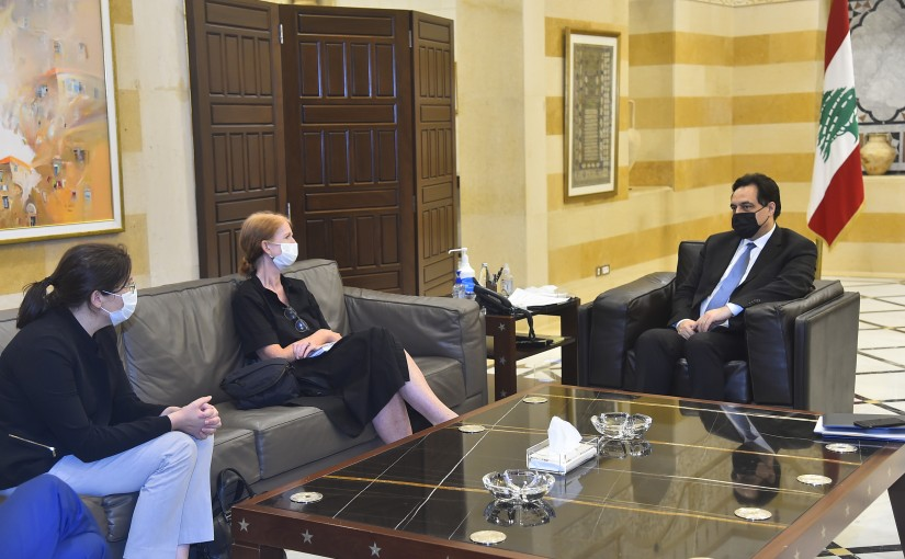 Pr Minister Hassan Diab meets a Delegation from United Nations