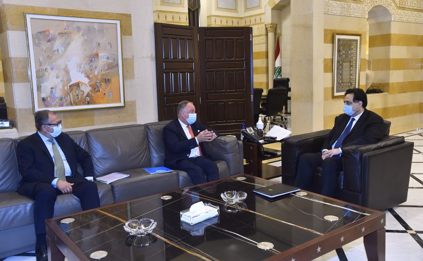 Pr Minister Hassan Diab meets a Delegation from UNIFEL