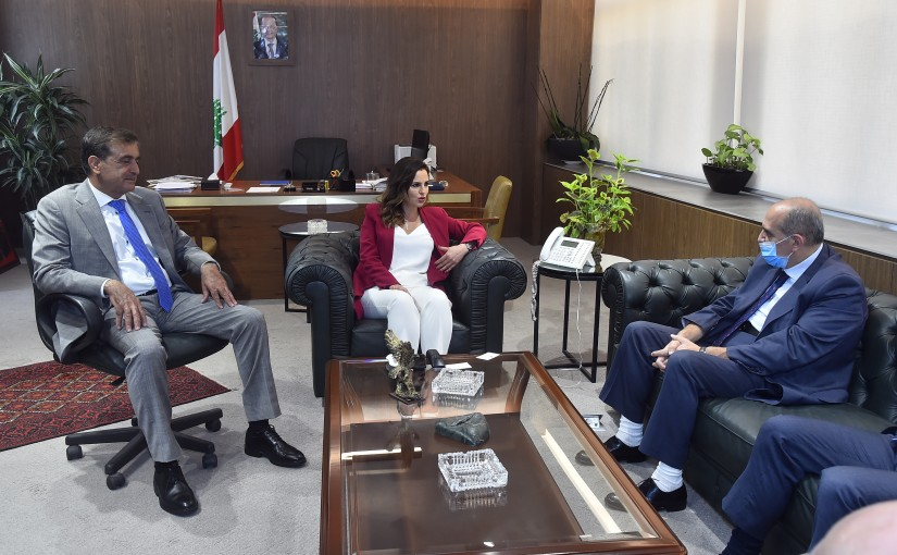Minister Manal Abdel Samad meets a Delegation from Bank Syndicate