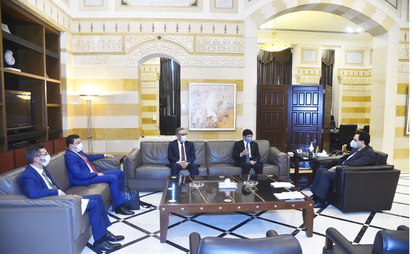 Pr Minister Hassan Diab meets Secretary General of the World Customs Organization, Kunio Mikuria