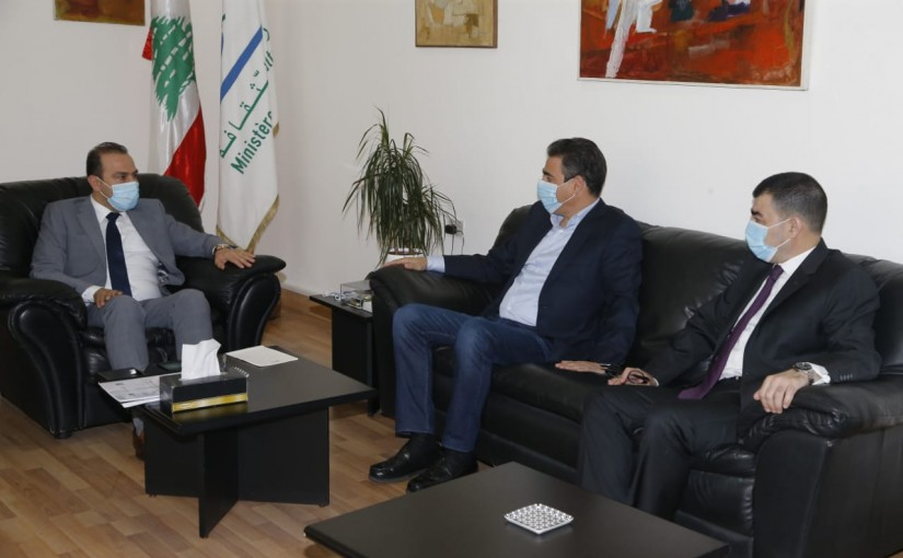 Minister Abass Mourtada meets a Delegation from Al Tayyar Party