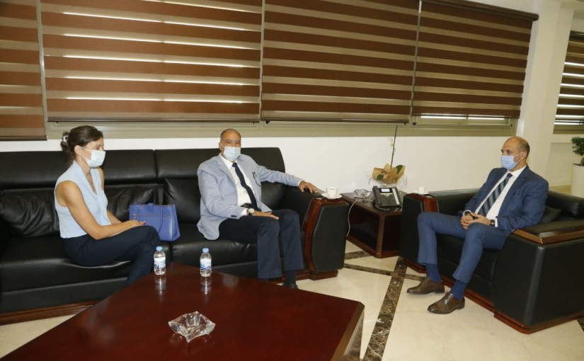 Minister Hassan Hamad meets Dr Maroun Khoury
