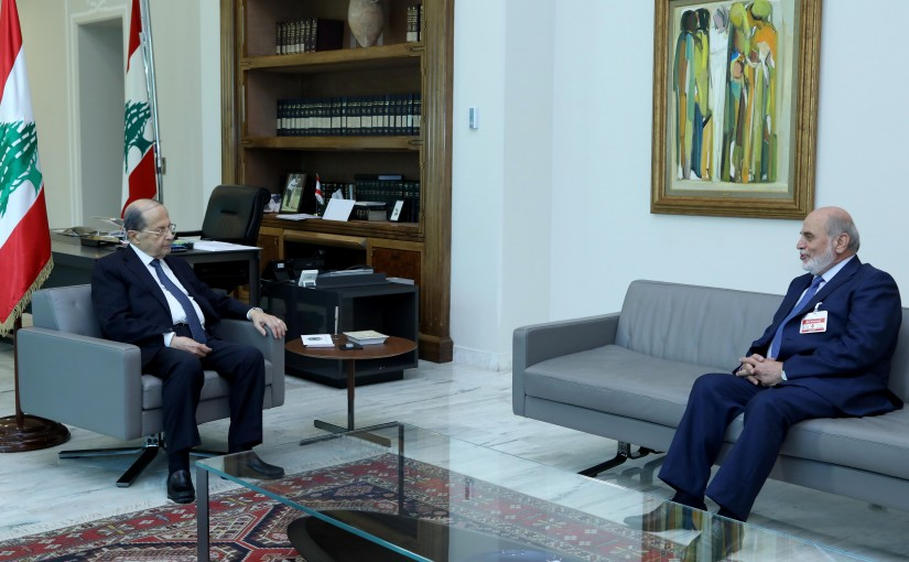 President Michel Aoun meets MP Assad Herdan