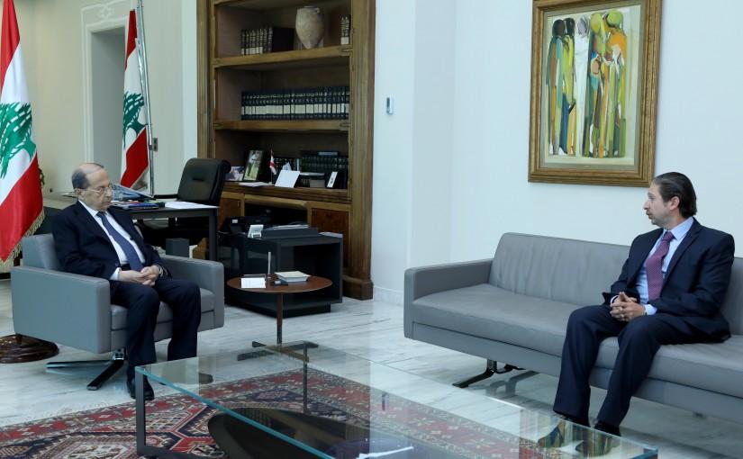 President Michel Aoun meets MP Faycal Karami