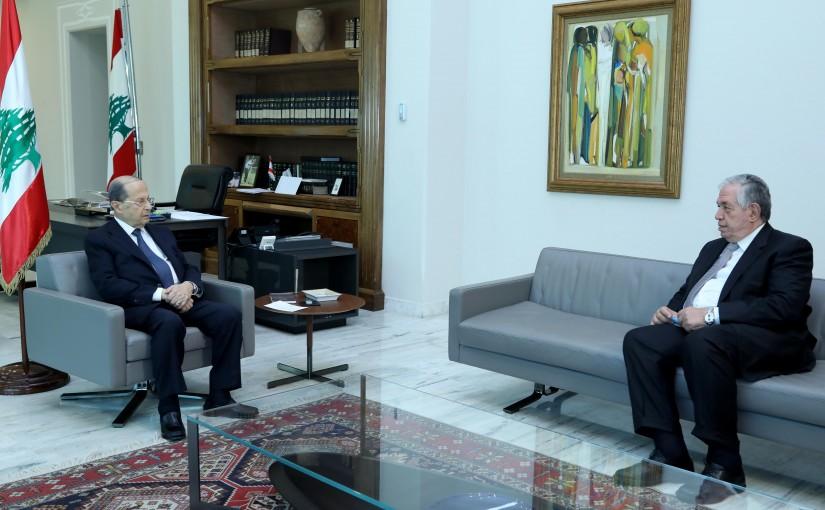 President Michel Aoun meets MP Samir Jessir