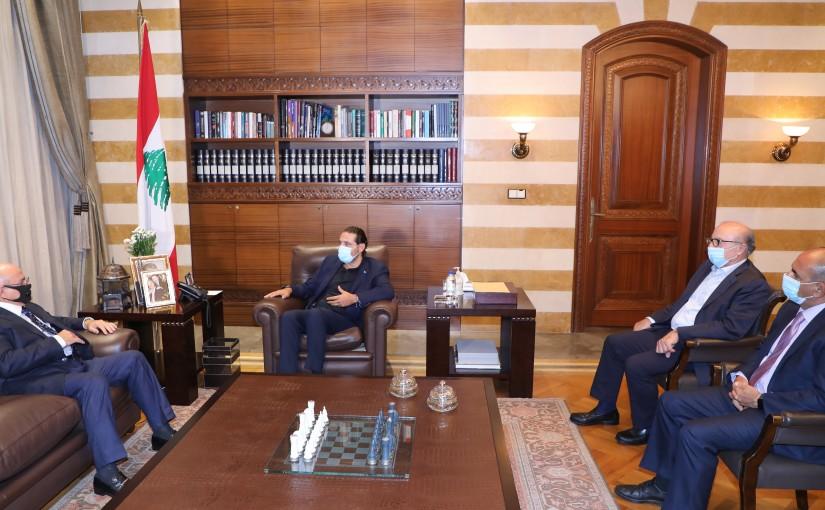 Former Pr Minister Saad Hariri meets Kuwait Ambassador