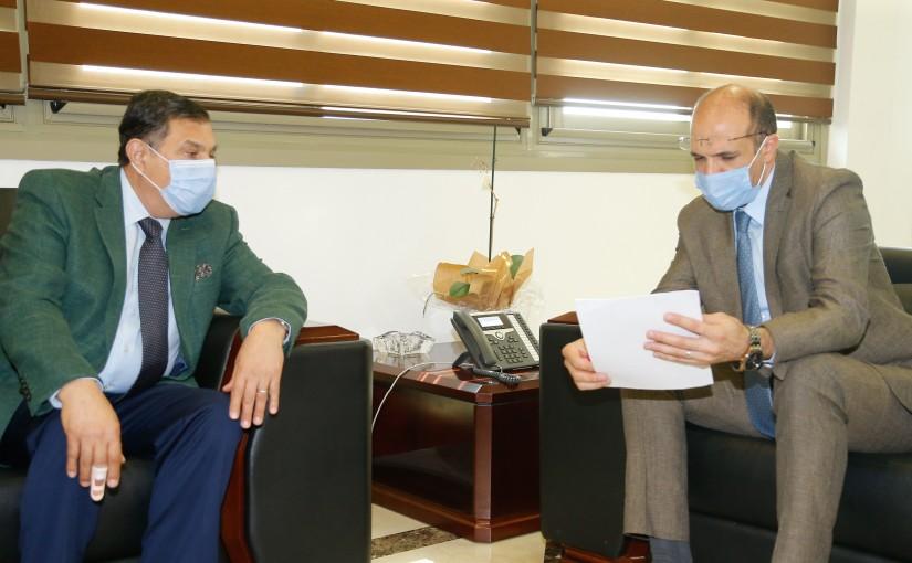 Minister Hassan Hamad meets Head of Arab University