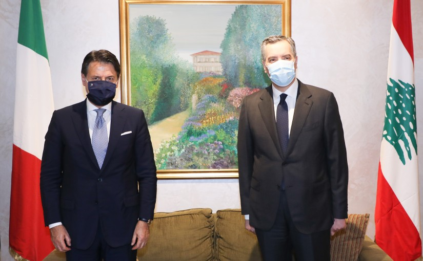 Pr Minister Moustapha Adib meets Italian Pr Minister