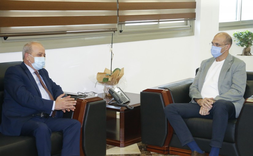 Minister Hassan Hamad meets Mr Mouhamad Mourad
