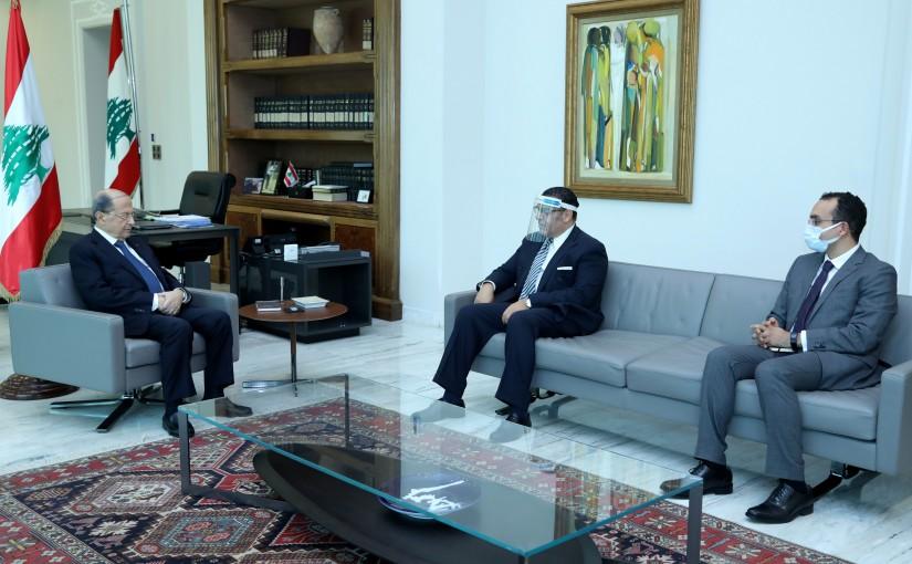 President Michel Aoun meets Egyptian Ambassador