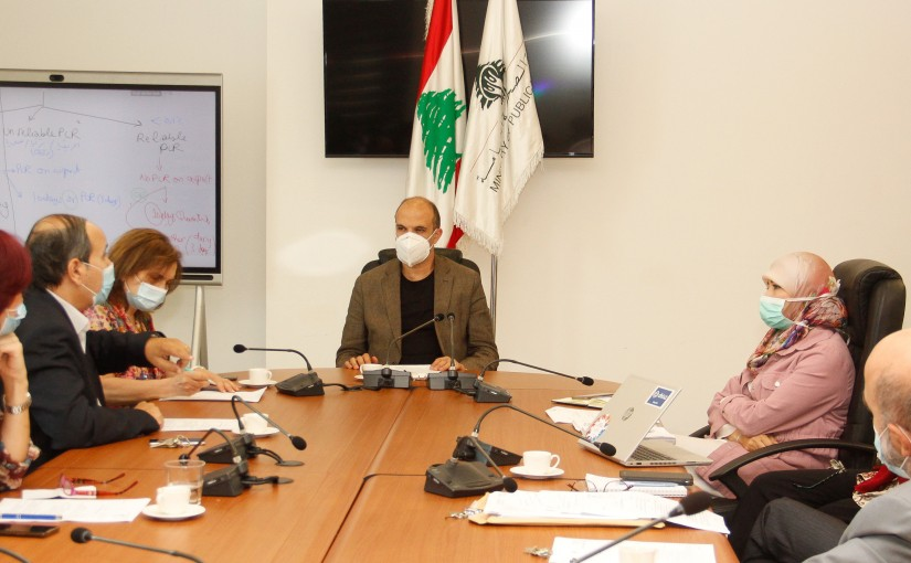 Minister Hassan Hamad Heading the Laboratory Committee