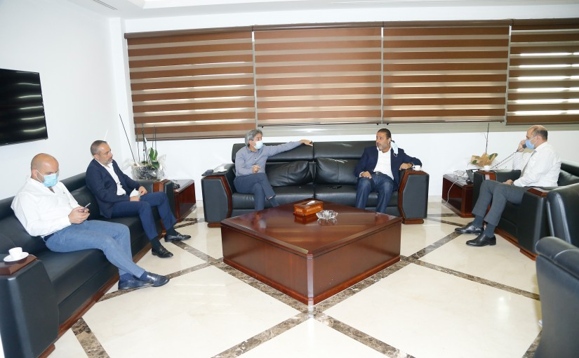 Minister Hassan Hamad meets MP Fady Saed with a Delegation