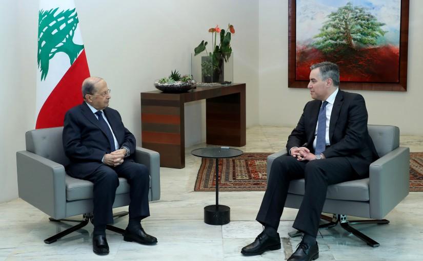 President Michel Aoun meets Pr Minister Moustapha Adib
